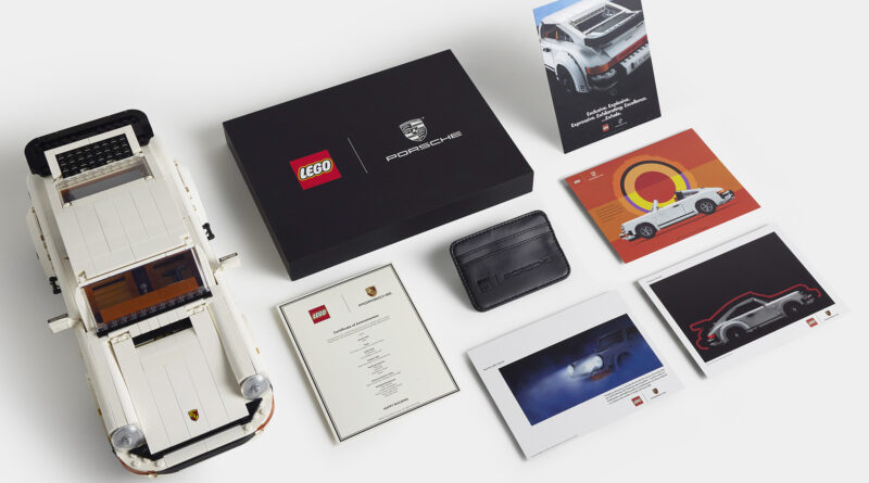 Everything included in the limited owner's pack with the new LEGO Porsche set 10295. The owner's pack includes a certificate of awesomeness, prints of recreated vintage Porsche 911 advertisements, and a LEGO Porsche card wallet.