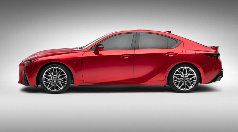 Lexus IS 500 F Sport Performance side view