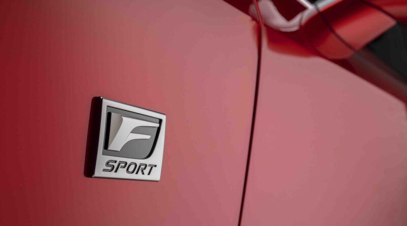 Lexus IS 500 F Sport Performance F Sport Badge Shown
