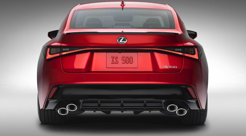 Lexus IS 500 F Sport Performance rear view