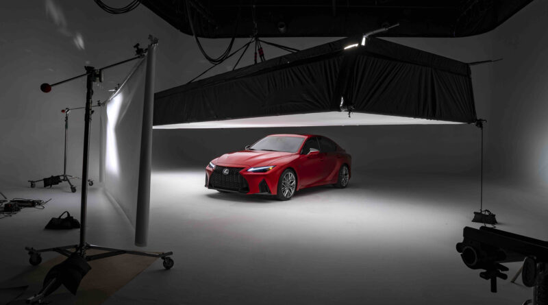 Lexus IS 500 F Sport Performance inside a photo studio