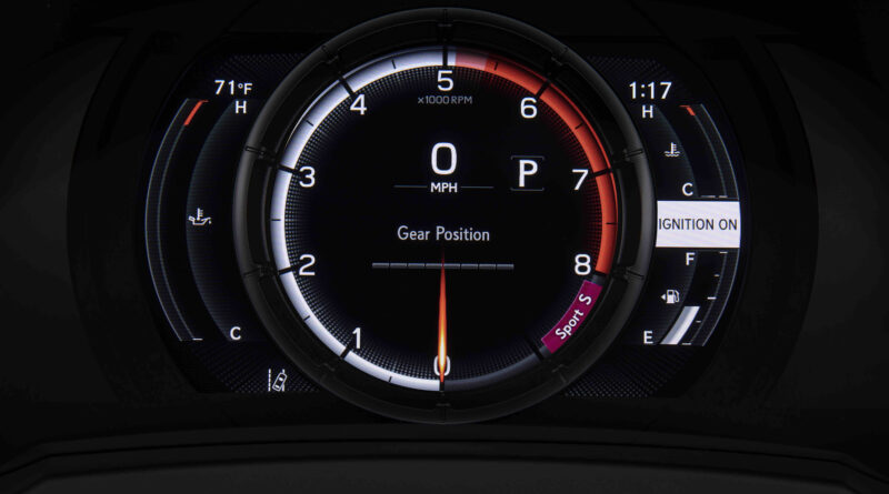Lexus IS 500 F Sport Performance digital gauge cluster