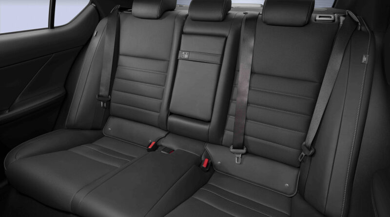 Lexus IS 500 F Sport Performance interior shot of rear seats