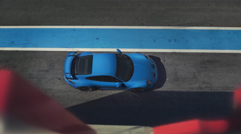 2022 Porsche 911 GT3 top view