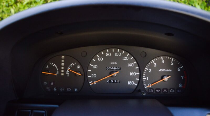 Black 1995 Nissan Gloria sedan gauge cluster