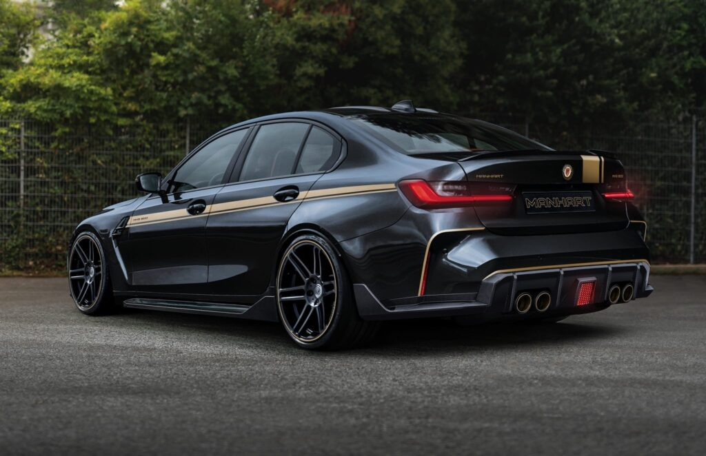 2022 BMW M3 Sedan (G80) featuring the MANHART MH3 600 tuning package