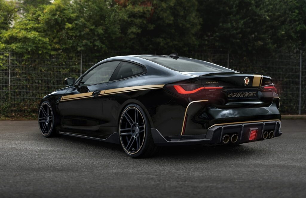 2022 BMW M4 coupe (G84) featuring the MANHART MH4 600 tuning package