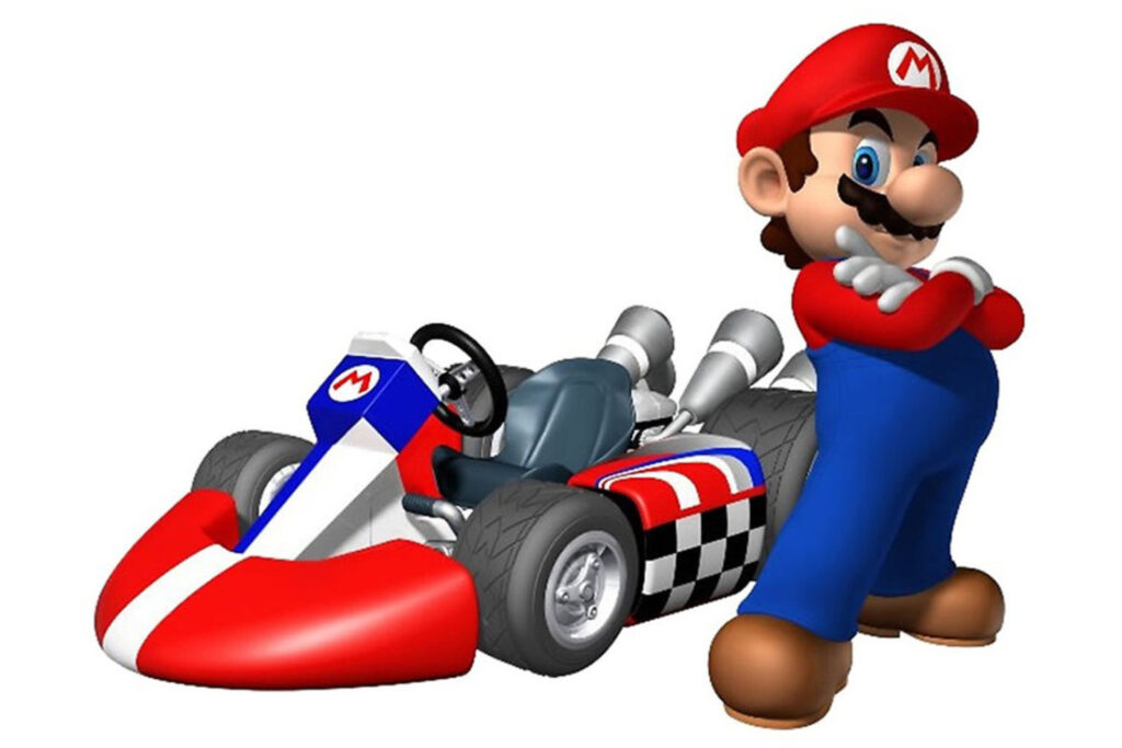 Mario as seen in the Mario Kart video game