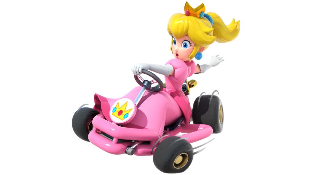 Princess Peach as seen in the Mario Kart video game