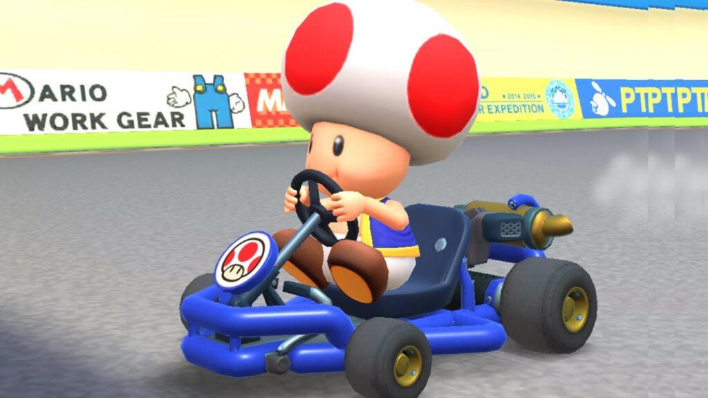 Toad as seen in Mario Kart 8 video game