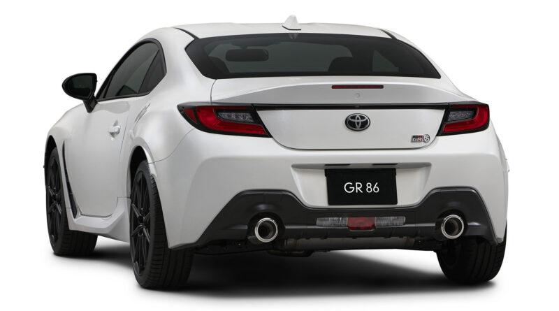 white 2022 Toyota GR 86 rear view