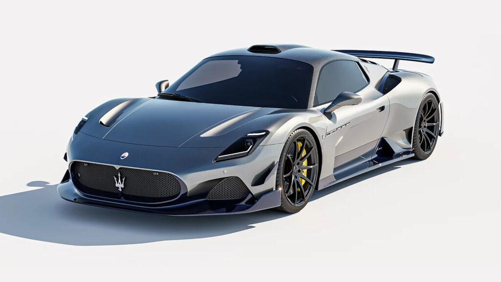 The Aria Aero kit by 7 Designs seen on a Maserati MC20