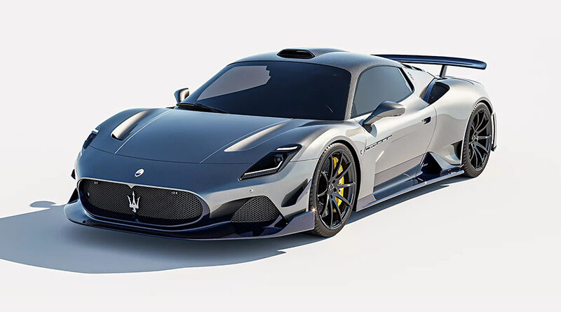 The Aria Aero kit by 7 Designs seen on a Maserati MC20