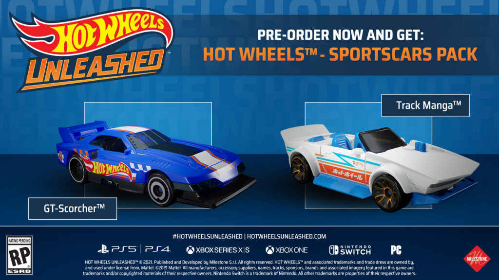 Hot Wheels Unleashed Sportscar pack pre-order bonus