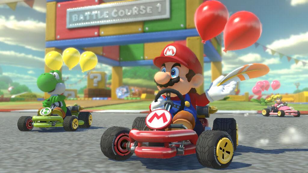 Mario Kart 8 Mario vs Koopa Troopa