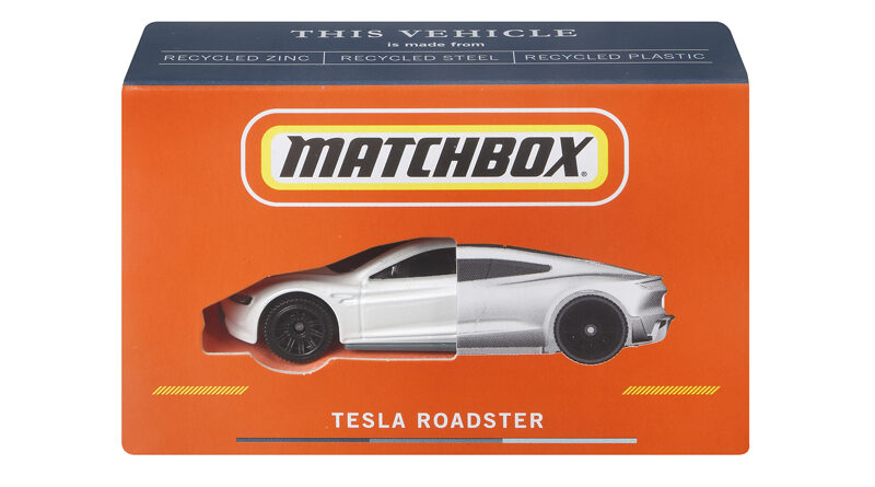 Matchbox Tesla Roadster Die-Cast made from 99% recyclable materials