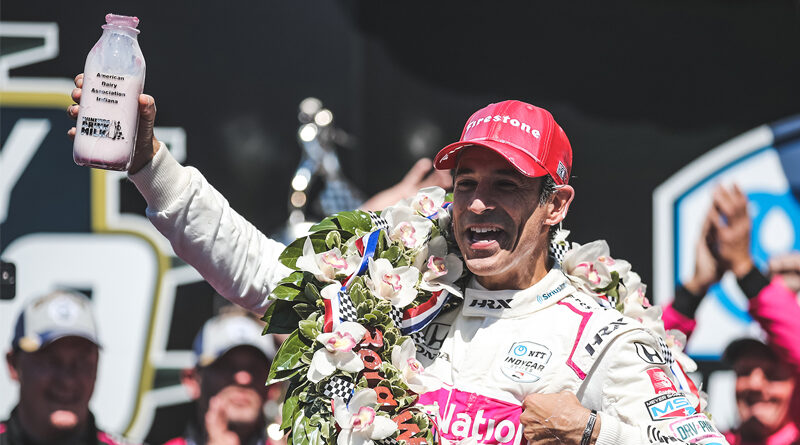 Helo Castroneves wins the 105th Indianapolis 500