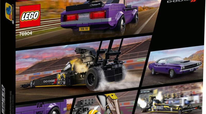 LEGO Speed Champions MOPAR Dodge //SRT Top Fuel Dragster & 1970 Dodge Challenger T/A. Set 76904