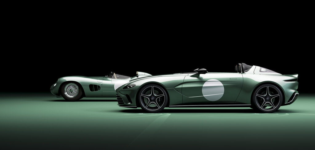 Aston Martin V12 Speedster in special DBR1 specification. Side view