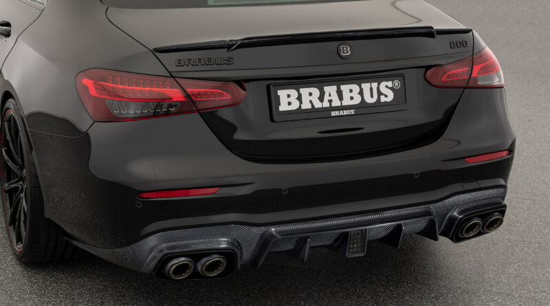 The Brabus 800 rear view of deck lid spoiler and rear diffuser