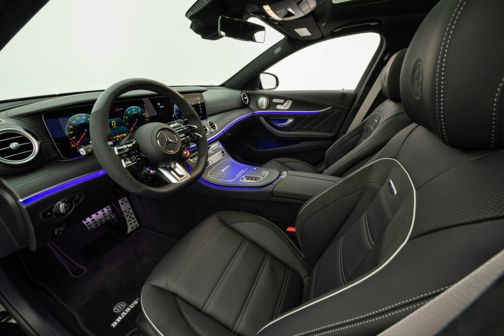 The Brabus 800 interior front seats and dashboard