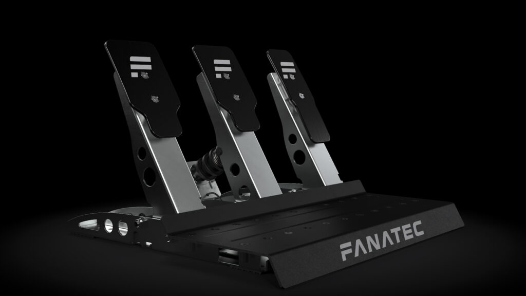 Fanatec CSL pedals with clutch pedal, load cell kit, and tuning kit upgrades