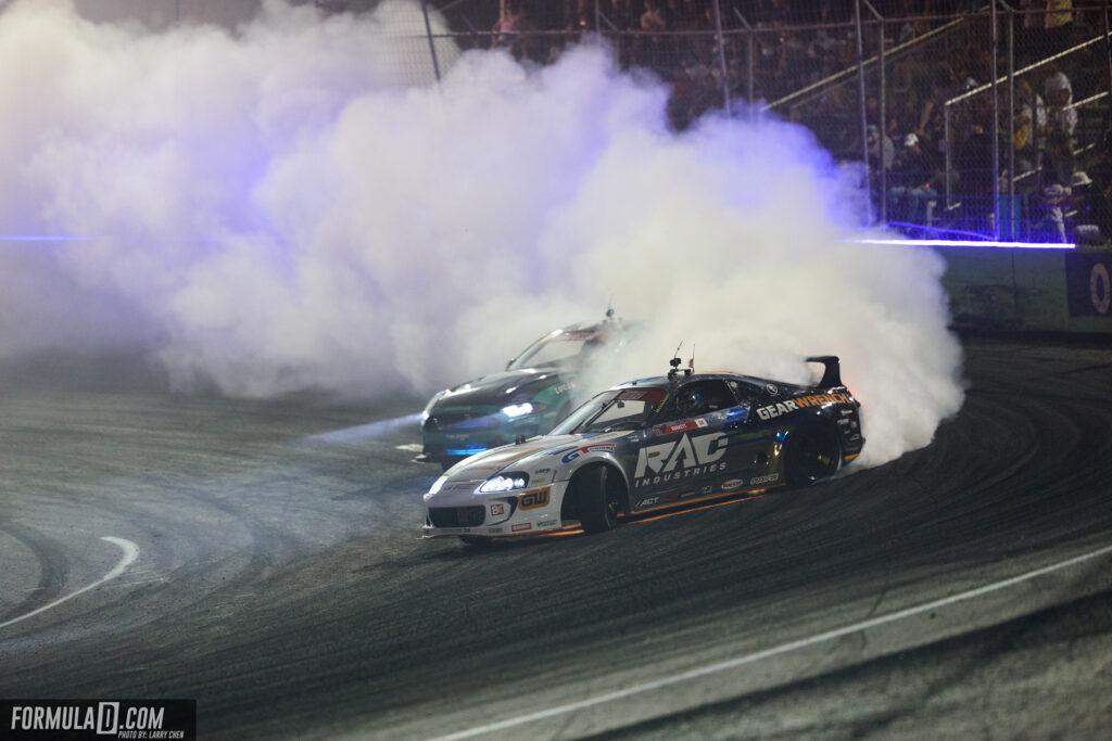 Formula Drift 2021 Round 1 Orlando. Dan Burkett vs Justin Pawlak