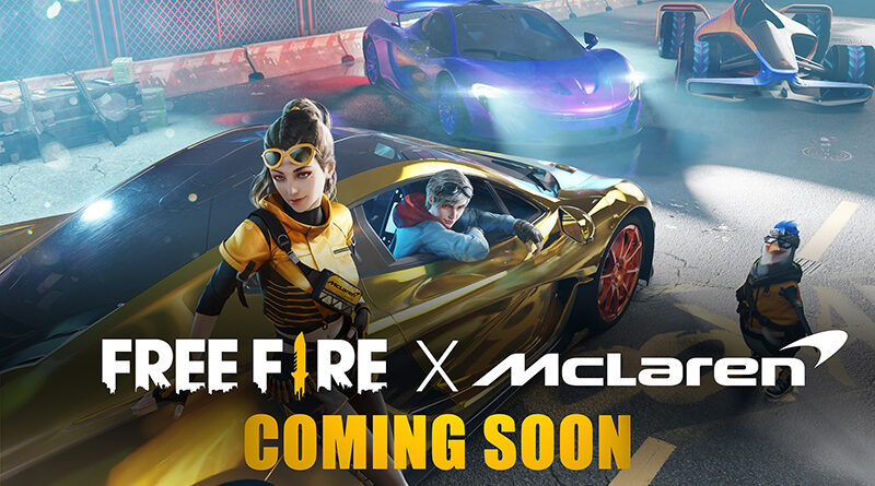 McLaren Automotive announces partnership with Garena to create themed content for the Free Fire mobile game