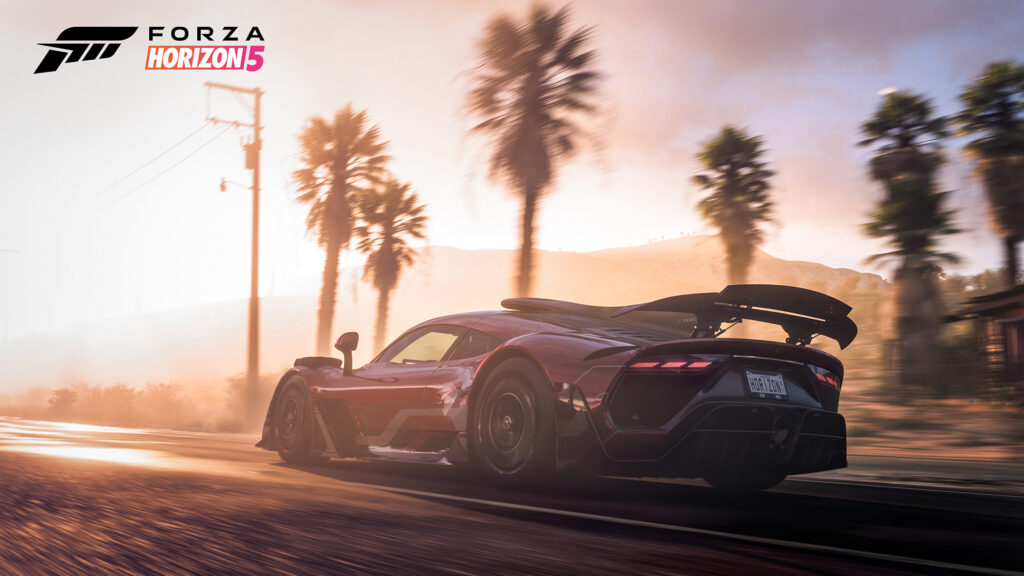 Forza Horizon 5 screenshot featuring Mercedes AMG Project ONE hypercar
