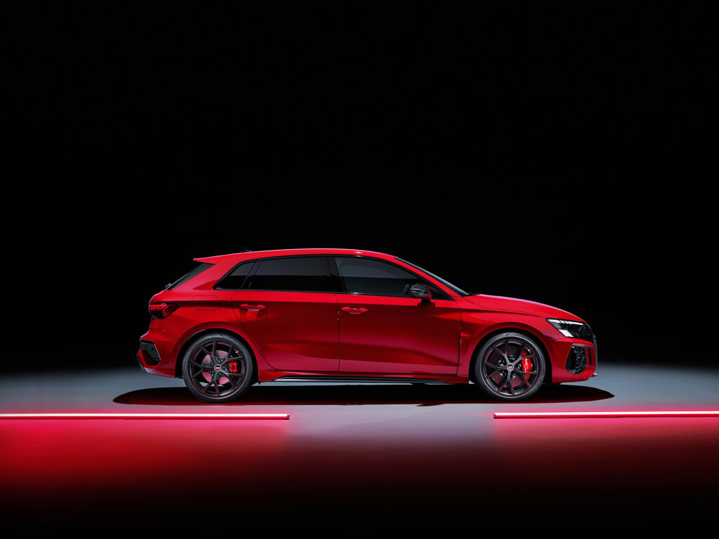 2022 Audi RS 3 Sportback. side view