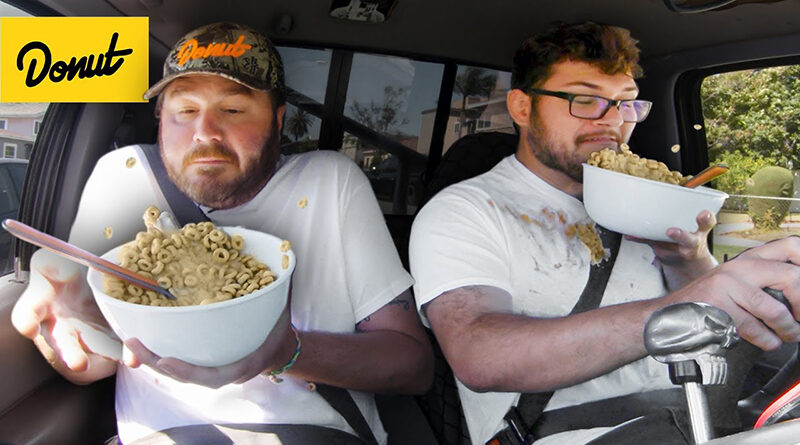 ames and Nolan from Donut Media test the worst foods to eat while driving
