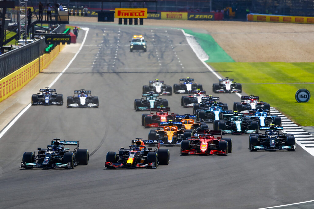 The start of the 2021 F1 British GP. Photo provided by Daimler Global