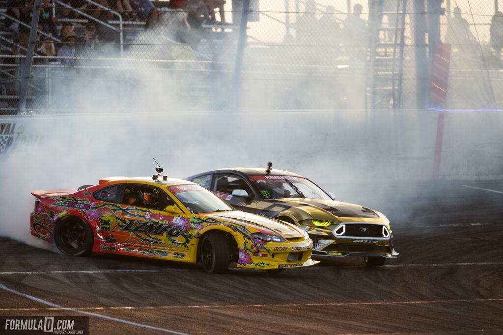Formula Drift 2021 Round 4. Adam LZ vs Chelsea DeNofa Photo by Larry Chen