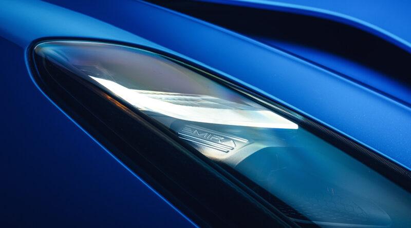 Lotus Emira headlight close up
