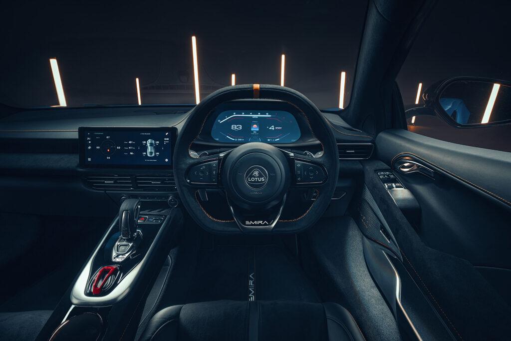 Lotus Emira interior driver seat view