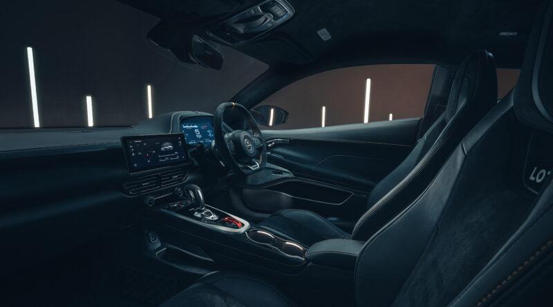 Lotus Emira interior passenger seat view