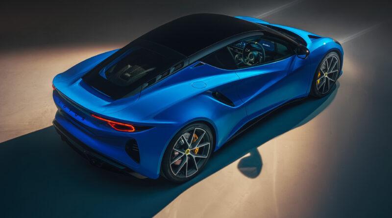 Lotus Emira rear top view